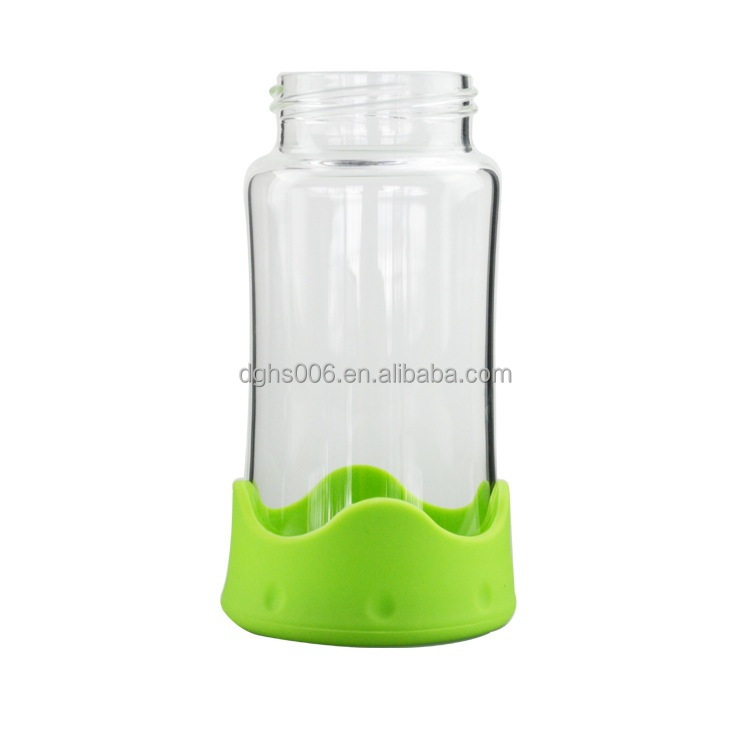 Baby Feeding bottle cover Silicone nursing bottle protector rubber baby feeder cover soft glass bottle cup protector