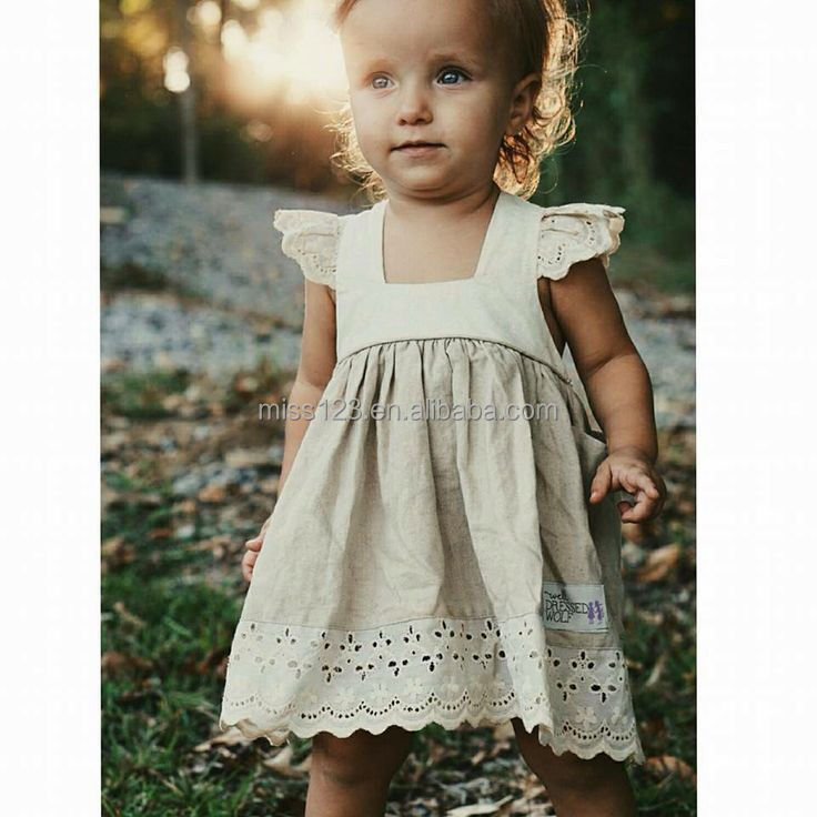 Girls cotton linen dress kids linen dress cool summer dress for ...