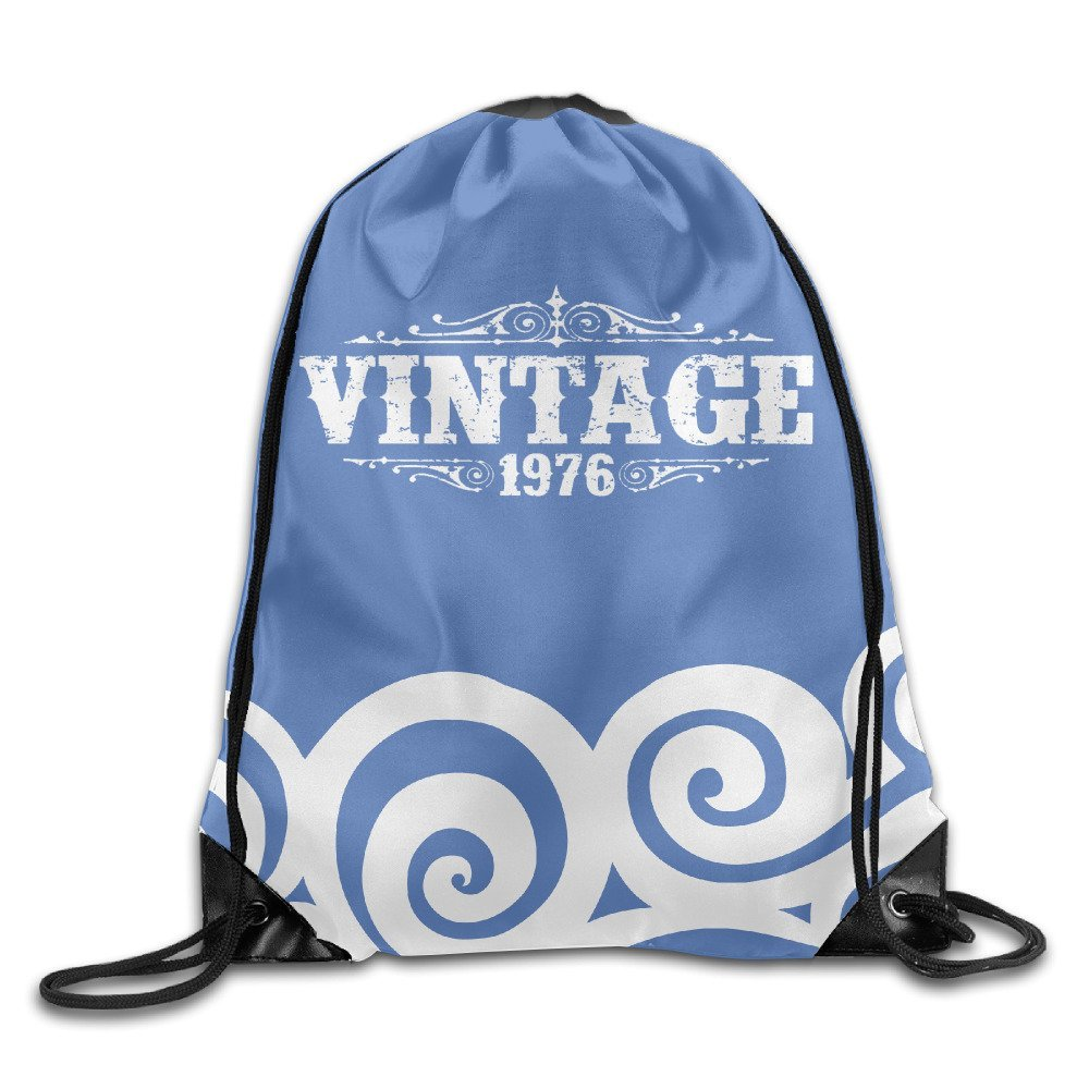 Get Quotations · 40 Years Old VINTAGE 1976 40th Birthday Cherished High  Quality Drawstring Hiking Backpack Hiking Backpacks Logo c1d6ac6e5f871