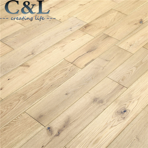 Click lock multilayer white washed oak engineered wood flooring