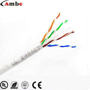 2018 UL Certificated High Quality Riser 1000FT UTP Cat6 Cable 23AWG Bare Copper 4 Pair 8 Core CMR