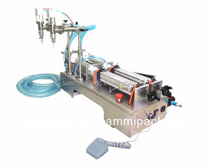 2 head P[iston filler liquid filling machine semi automatic/table top liquid filling machine