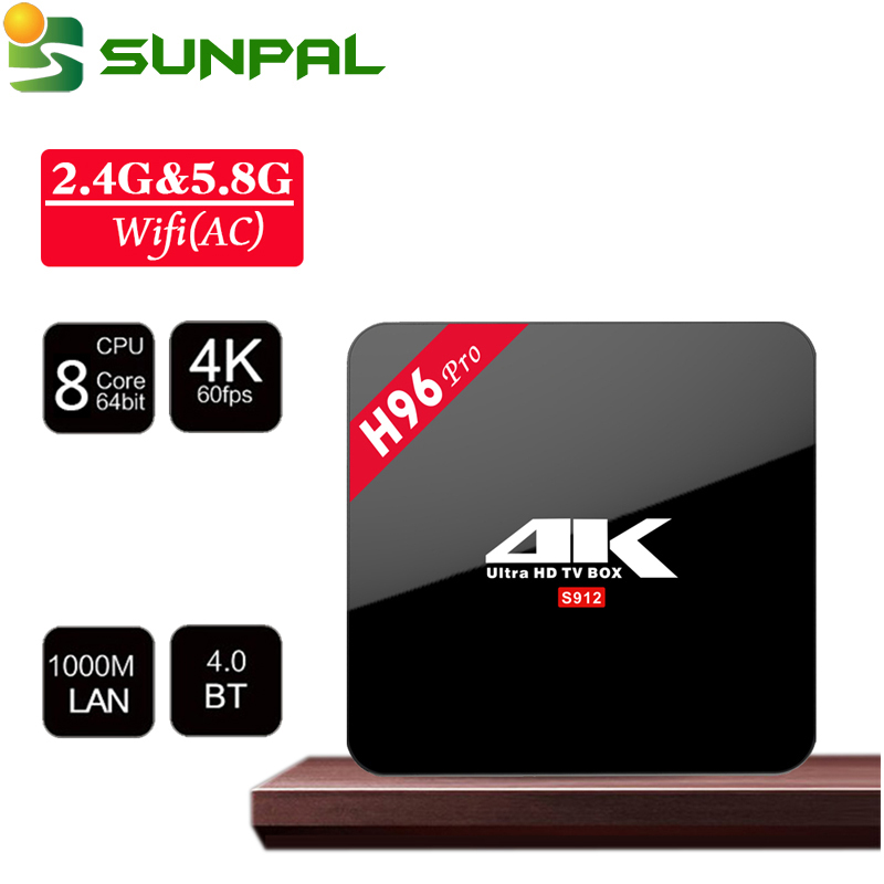 Excel Digital Smart TV Box H96 pro plus 3GB 32GB Amlogic S912 Android 7.1 TV Box H96 pro plus S912