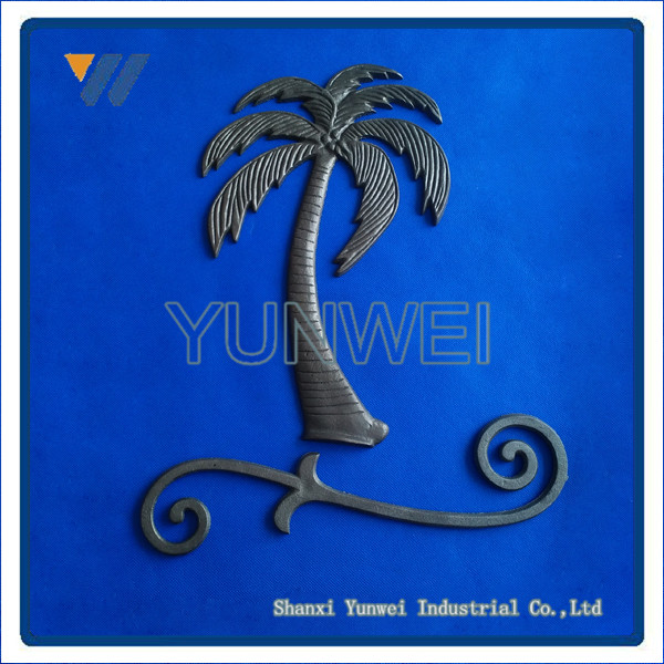 Factory Wholesale Popular Design Ornamental Wrought Iron Fence Ornaments