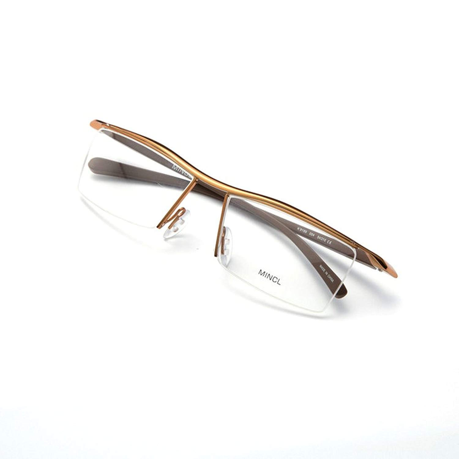 1b1f5373221 Get Quotations · MINCL  Rectangular Business Eye Glasses Rimless Metal  Frames TR90 Legs -yhl