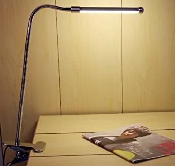 Clip-style 6W Warm Light LED desk bedside lamp study read student reader