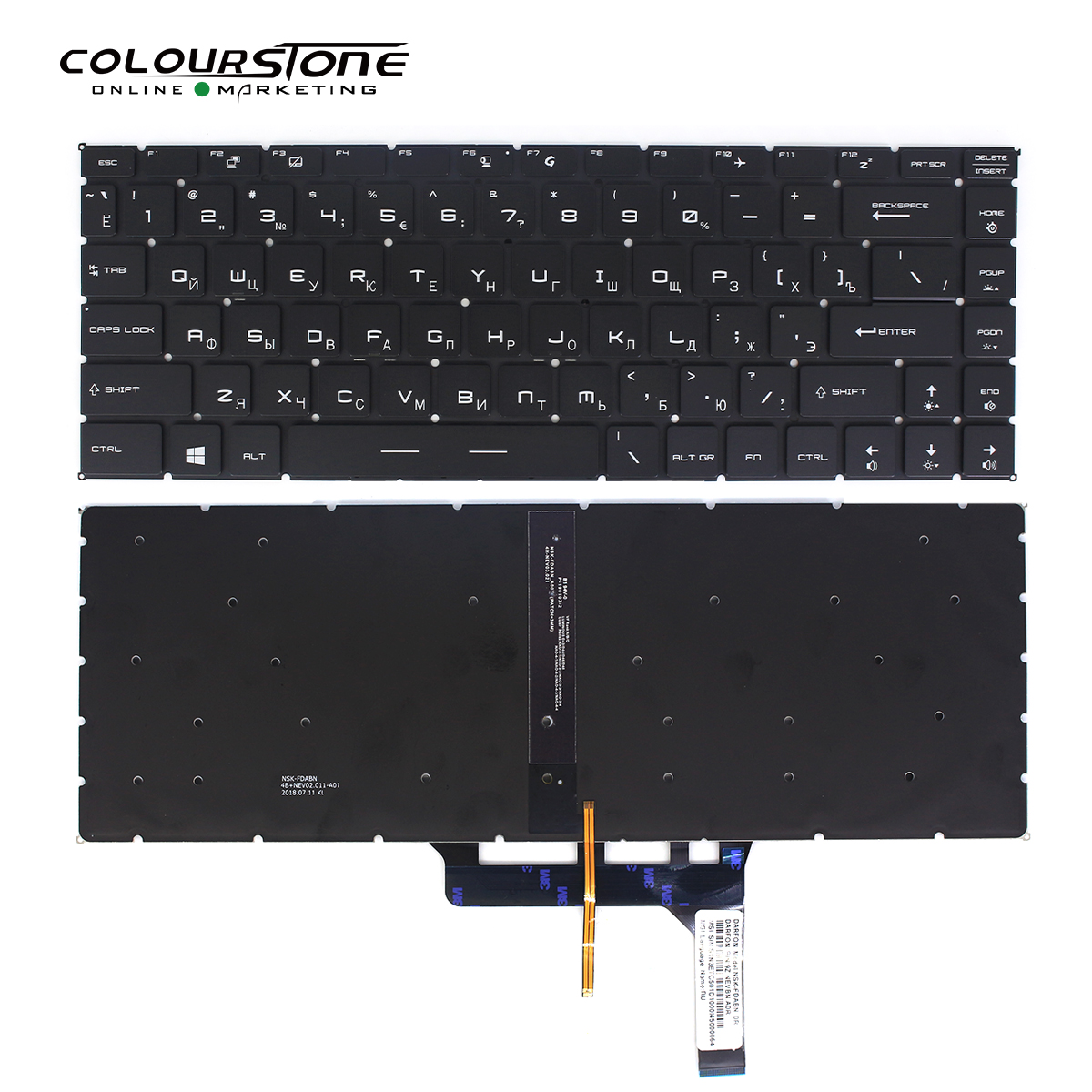 GS65 keyboard for MSI GS65 GS65VR MS-16Q1 series laptop black RU keyboard backlit without frame