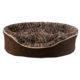 Luxury hot sale brown plush pet products dog bed