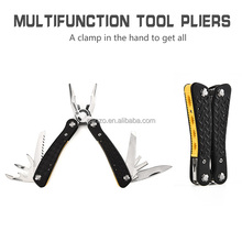 G106 stainless steel hardware tools cutting pliers multi purpose tool with scissors 13 in 1 camping tools