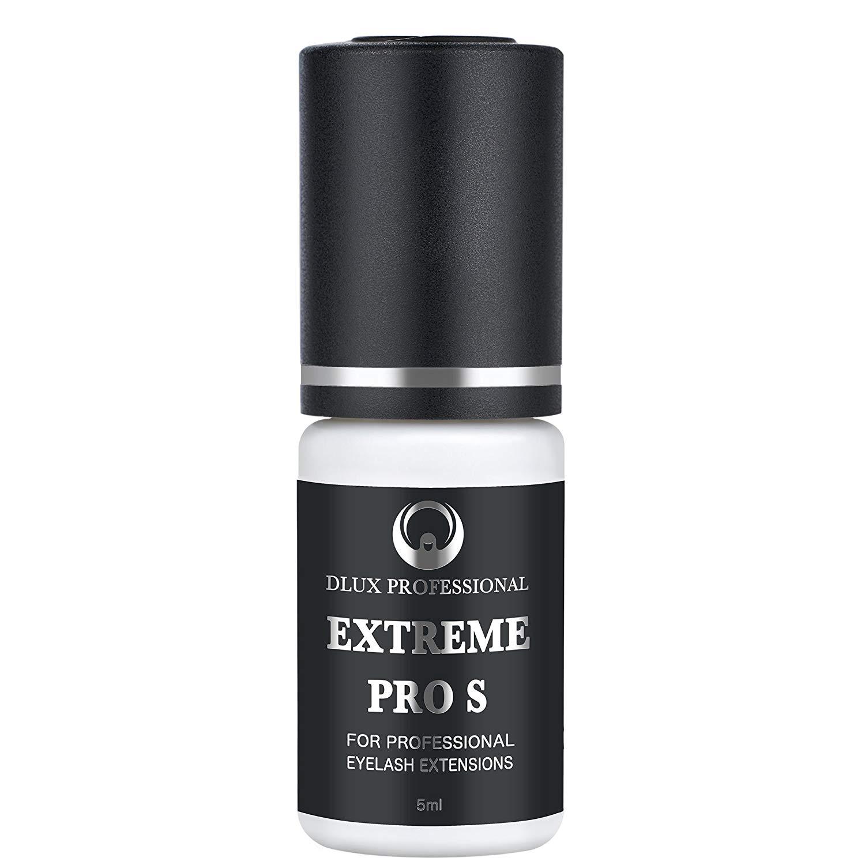 5454ba9d58d Get Quotations · DLUX PROFESSIONAL EXTREME PRO S Eyelash Extension Glue(5ml)  Black Adhesive/Eyelash glue