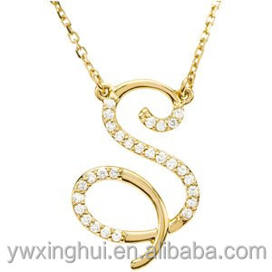 China Whosale S Alphabet Pendant Design
