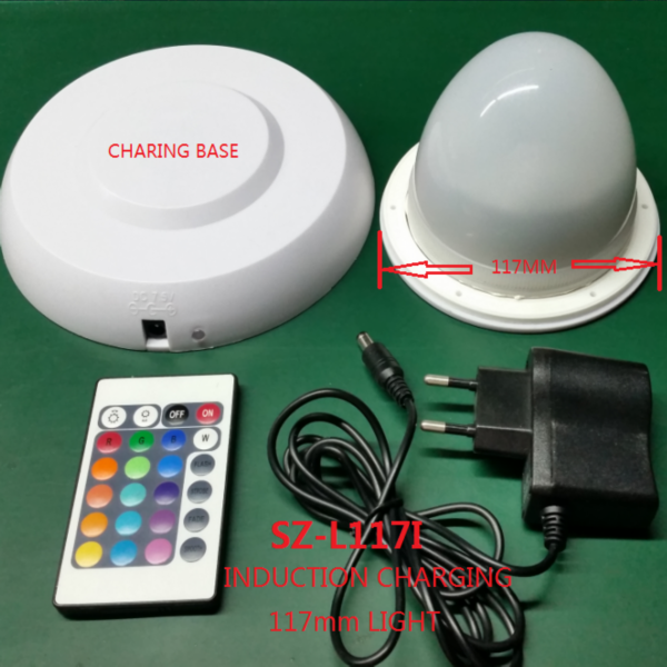 20cm solar powered automatic charging waterproof IP 67 plastic floating pool  LED ball light