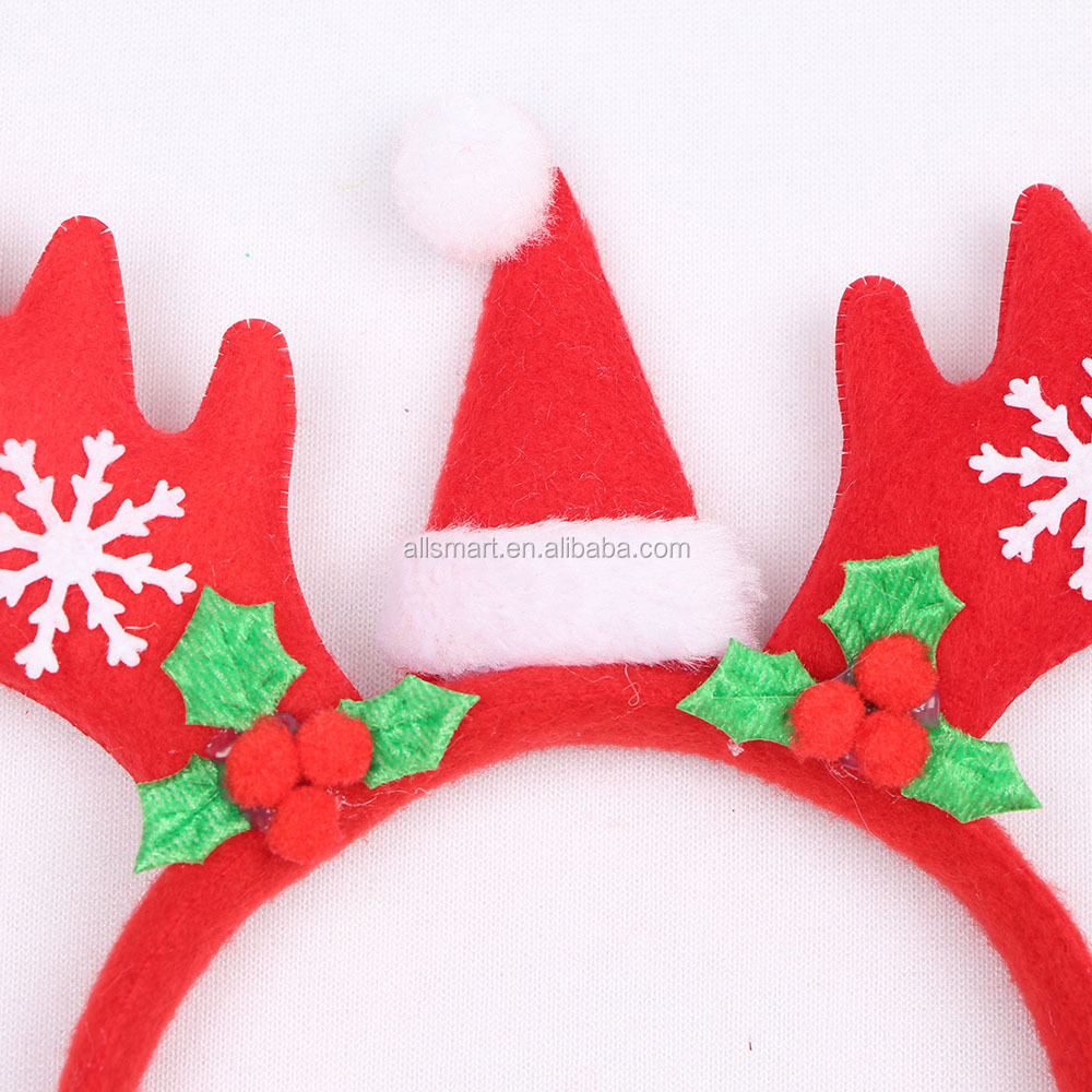 Christmas Headband Craft.Reindeer Antler Headband With Snowflake For Christmas Holiday Party Decorations Antlers Christmas Headband Buy Christmas Snowflake