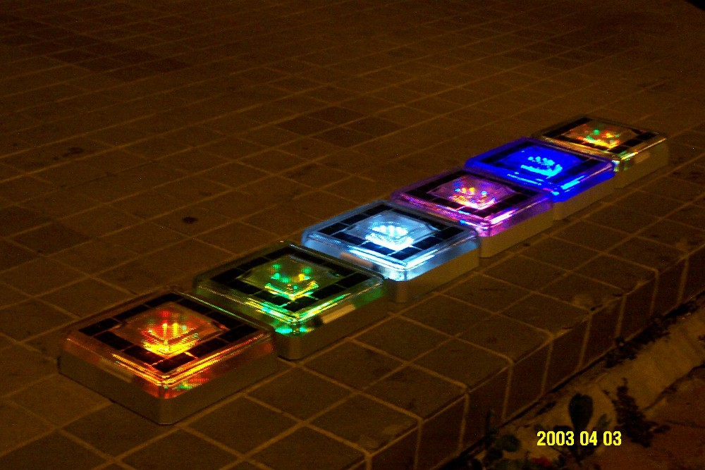 Eco solar decor footpath lights pavement light led garden ice brick buy outdoor led brick - Decorative garden lights ...