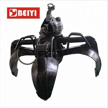 BEIYI HOG3000H Excavator Rotating Grapple / Hydraulic Grapples Construction Machinery Parts