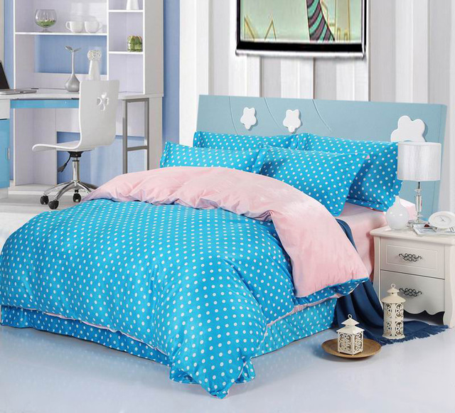 chaorou peluche courte polka dot bleu couvre lit jet polyester luxe palais de style couverture. Black Bedroom Furniture Sets. Home Design Ideas