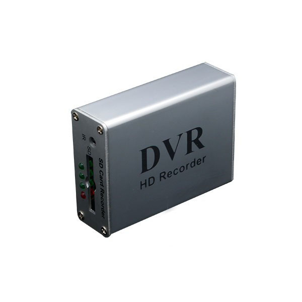 Silver motion detection 1 CH Mini DVR Video/Audio CCTV Recorder