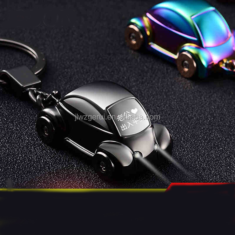 GERUI New Men's Genuine Leather Car Key Chain Holder Luxury Keychain