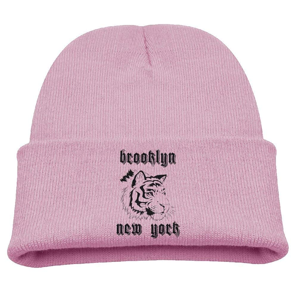 01a9bb786ca Get Quotations · Brooklyn New York Tiger Head Funny Babys Beanie  Comfortable Knitted Hat