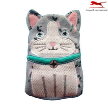 Fancy kat animal knit handwarmer cover kids BS kwaliteit Manekineko rubber hotwater fles cover