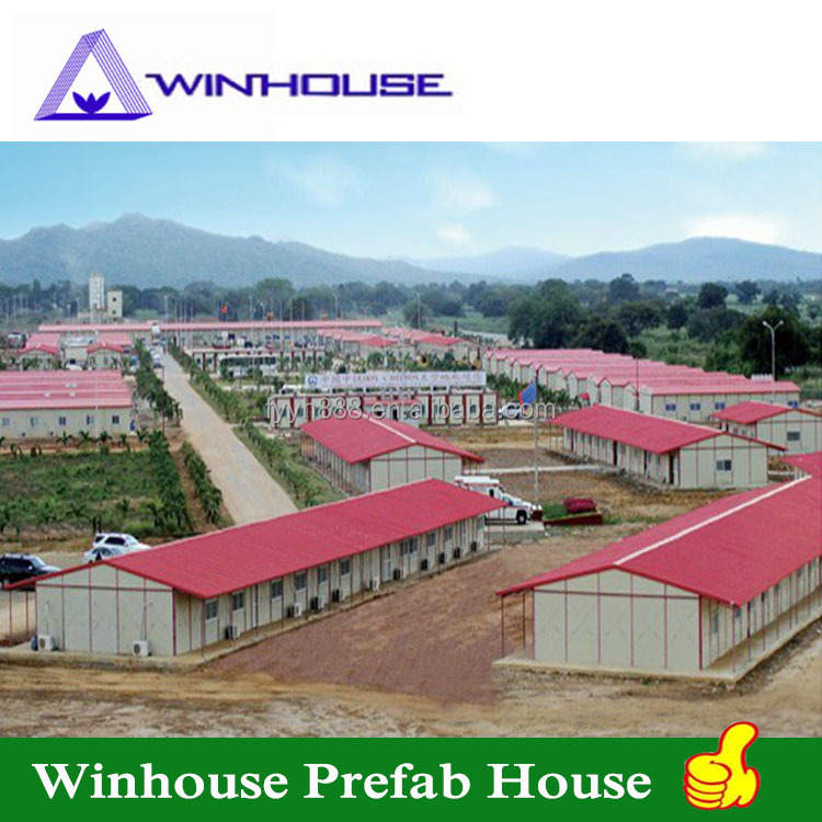 Economic steel structure house temporary staff house prefab house