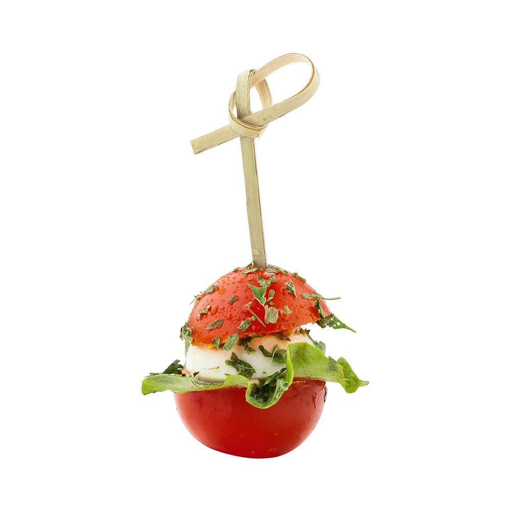 Bamboe knoop pick Hamburger cocktail picks