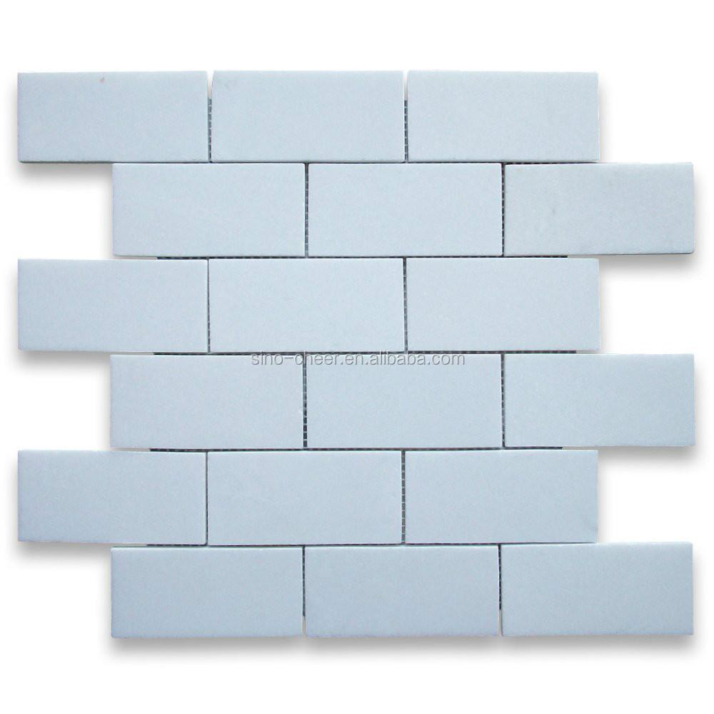 Thassos white greek marble subway brick mosaic tile 2x4 inch thassos white greek marble subway brick mosaic tile 2x4 inch polished dailygadgetfo Gallery