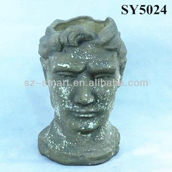 Topf Fur Zement Menschliches Gesicht Statue Blumentopf Buy