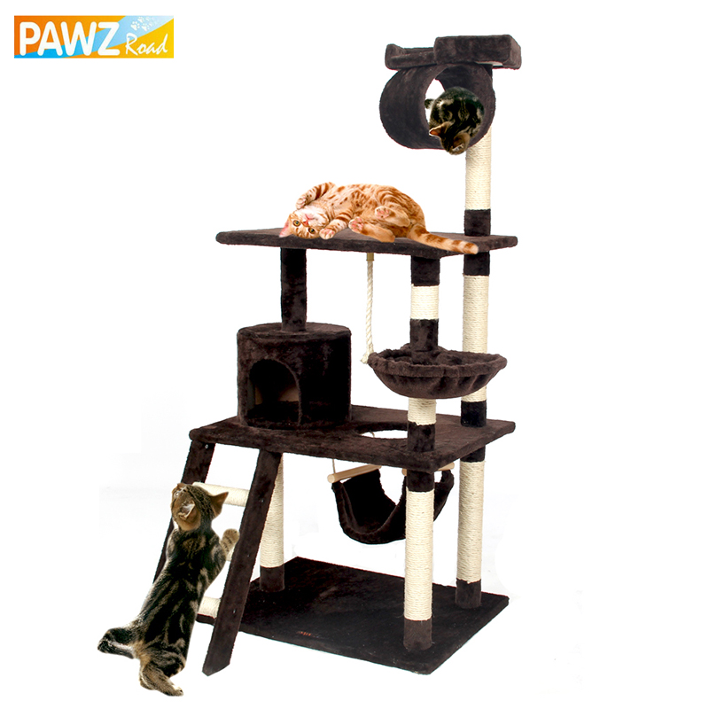 Fast Delivery H154 Cat Climbing Toys Scratching Solid Wood