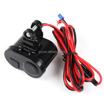 hot sale 12 45v 2 0a motorcycle cigarette lighter and phone charger rh alibaba com
