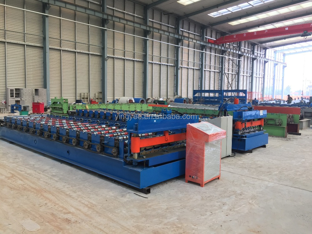 corrugated roofing double layer machine/corrugated and0.8-1,0mm