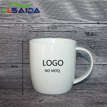 Bulk White Blank Ceramic Cups Coffee Mug Simple Pattern New Bone China 12oz