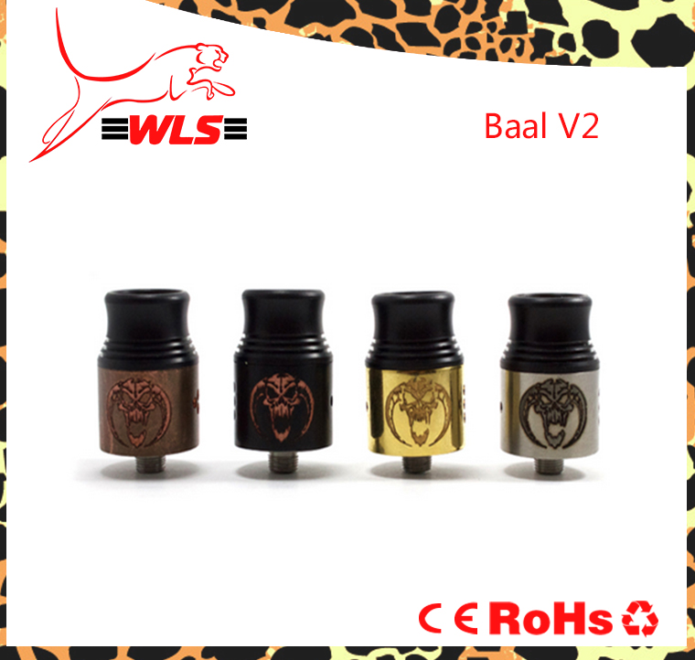 RDA vapor best selling products wls rda with 304 ss metal atomizer wls 1:1 vape pen mod box mod pk baal v2 rda e cigs