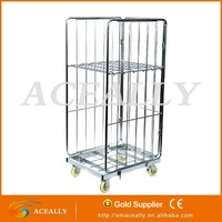 steel wire container racks with wheels
