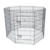 8 panels outdoor Metal dog fence manufacturer