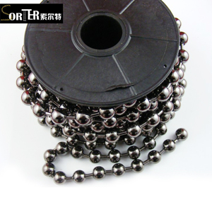 Jewelry is decorated with metallic silver beads
