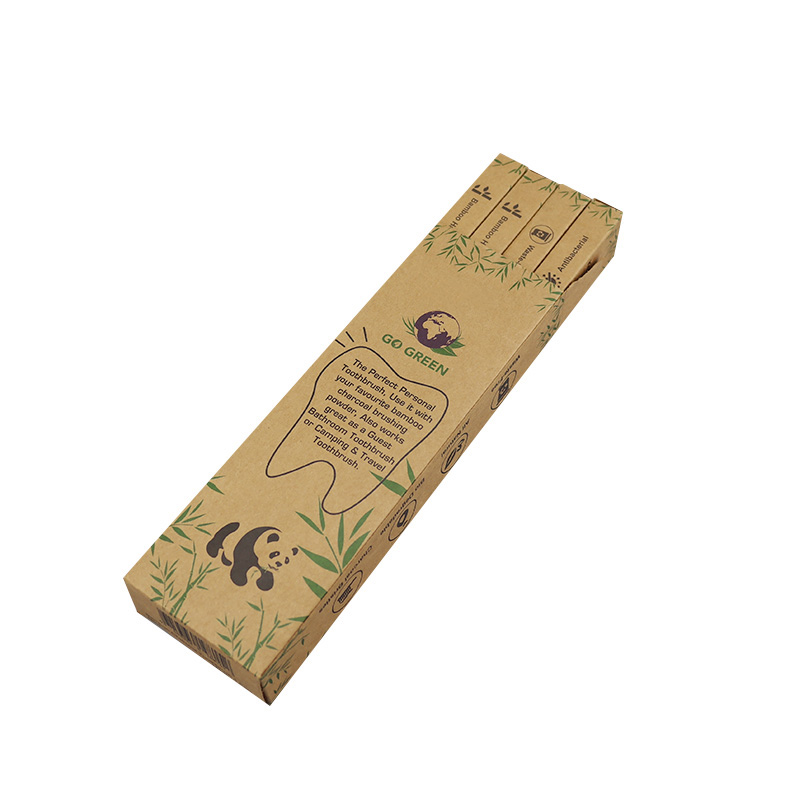 bamboo toothbrush with logo handmade kids bamboo toothbrush for home/Hotel/Travel
