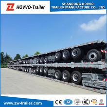 3 axle container chassis semi trailer or container flatbed semi trailer or used container for sale