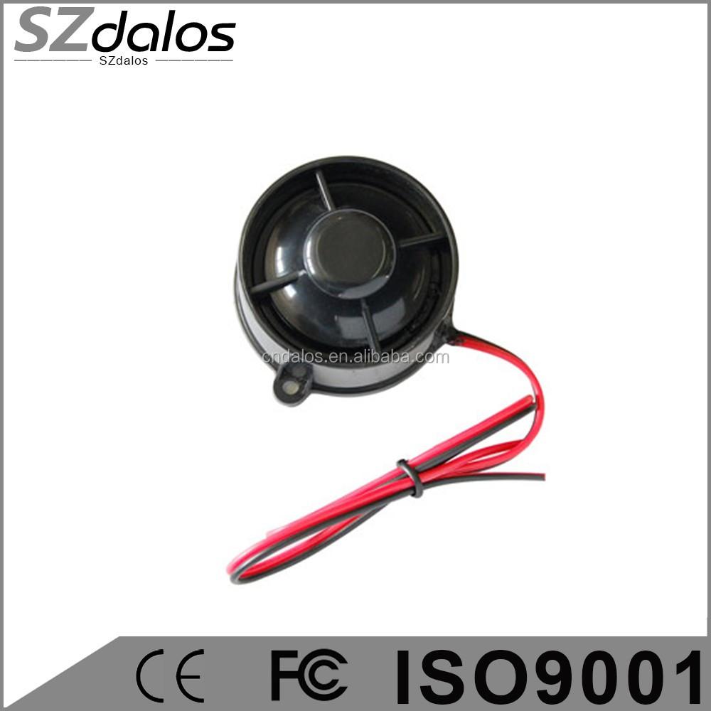 y + 12v 6 Tonos De Respaldo De Batería Sirena Para Alarma de automóvil 120db. de gatillo -