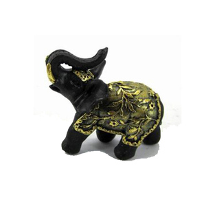 Fast delivery small indoor tabletop decoration resin gold elephant
