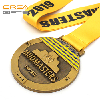 China Manufacturer 3d Designs Award Medals Custom Sports Marathon Running Medal With Ribbon