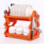 Hot sale orange collapsible dish rack for cabinets