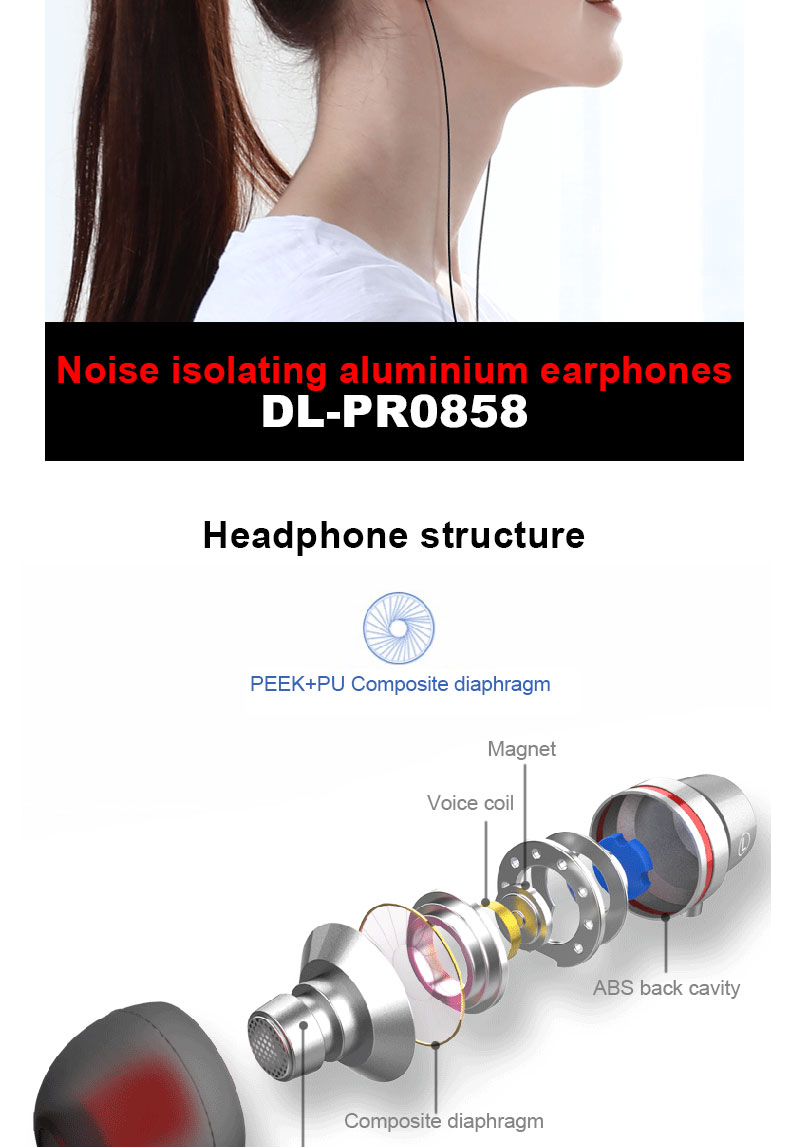High Quality Sound Great Fashion OEM Wired Earphone In Ear, Hot Selling Sports Wired Earphone With MIC