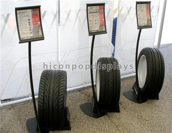 Novel Metal Flooring Printed Logo And Signage Car Products Show - Car show wheel stands