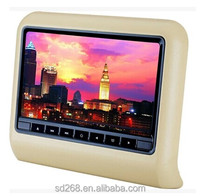 Car Headrest Monitor,TFT LCD Touch Screen DVD/USB/SD/MP5/1080P AV1 AV2 4 Colors New Type Headrest Monitor