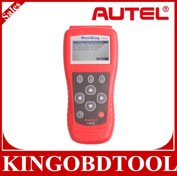 2014 Top Rated Free Shipping Autel MaxiScan FR704 French Vehicle Auto Car OBDII EOBD Code Reader
