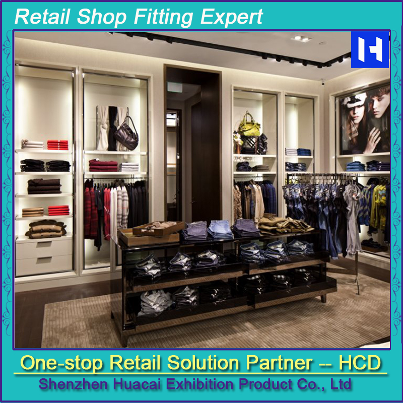 Popular Wood Wholesale Clothing Store Shop Fitting Display Racks ...