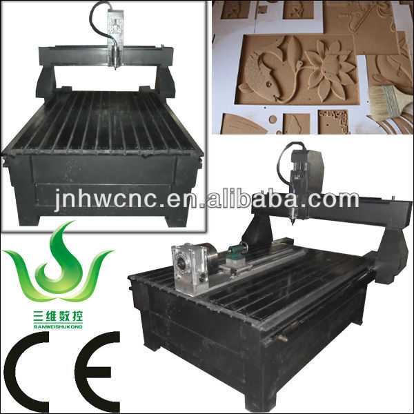 4 Axis Wood Router CNC Plywood Cutting Machine with Rotary Attachment