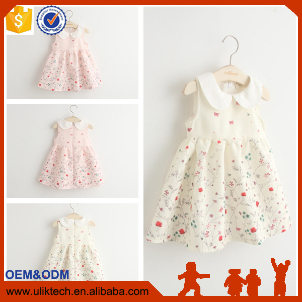 wholesale baby dress baby girl dress stitching 2016 baby cotton dress bebek malzemeleri vestidos casuales with collar