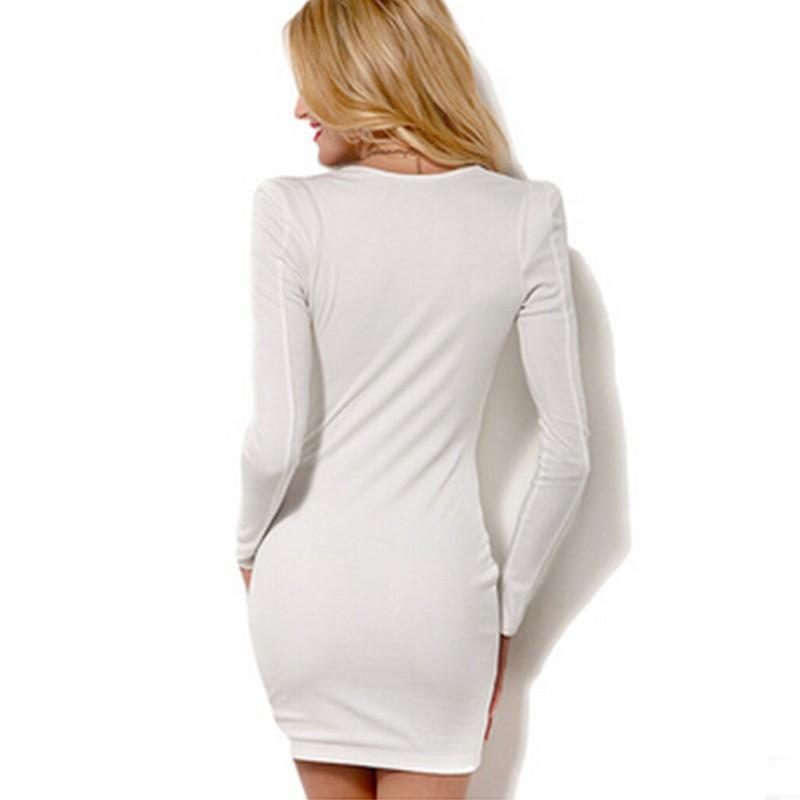 Damen Gute Qualität Baumwolle Bunt Schlichtes Design Engen Kleid ...
